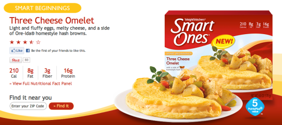 SmartOnes Three Cheese Omelet