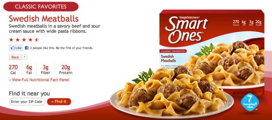 SmartOnes Swedish Meatballs